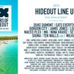 hideout festival lineup 2015