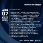 time warp lineup 2018
