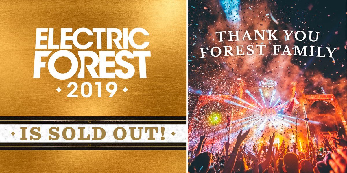 electric forest festival 2019 sold out
